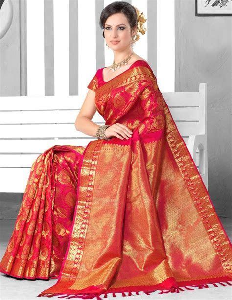 Latest Sarees and blues Designs: Bridal Sarees in Tamilnadu