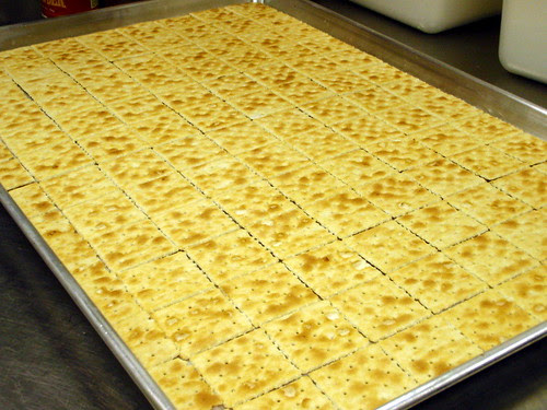 A tray of Saltines