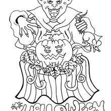Dibujos Para Colorear Un Vampiro De Halloween Eshellokidscom