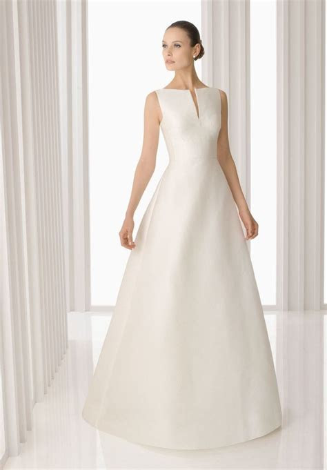 Simple A line Wedding Dress: Elegant, Sophisticated and