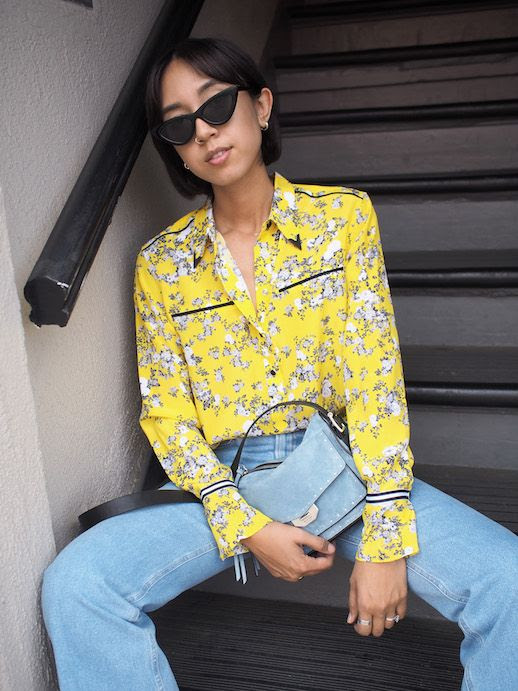 Le Fashion Blog Pretty Blouses To Shop For Favorite Denim Via Unconscious Style