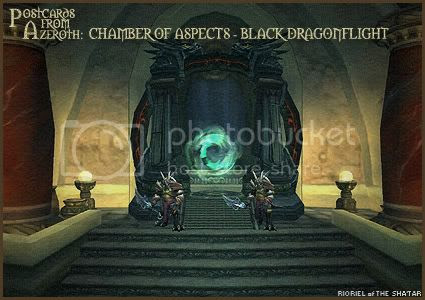 Postcards of Azeroth: Chamber of Aspects - Black Dragonflight, by Rioriel Ail'thera