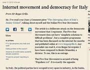 La lettera di Beppe Grillo