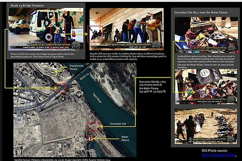 Satellite images show sites of executions in Iraq's Tikrit