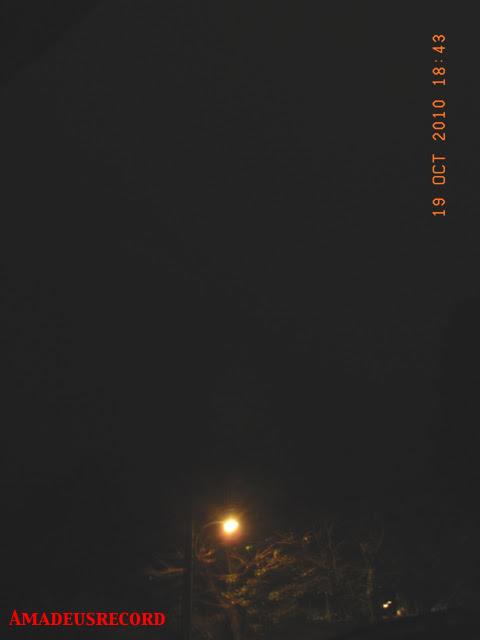 真っ暗な夜の熊本