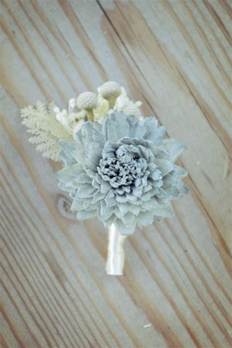 slate wedding collection boutonniere bouquet sola flowers