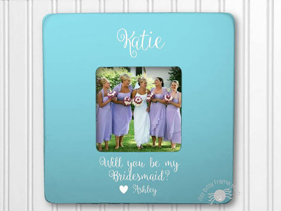 Will You Be My Bridesmaid Frame Personalized Frame Wedding Frame