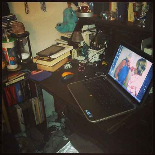 Goodness, my desk is an absolute mess. Ye Gods! #AmWriting