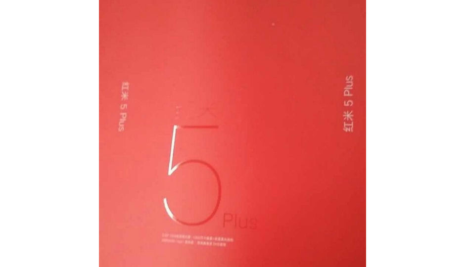 Xiaomi Redmi 5 Plus retail box leaked, smartphone launch could be imminent