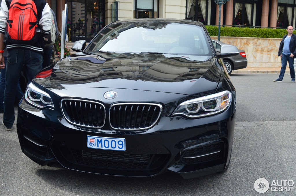 Bmw M235i Spotted In Estoril Blue And Sapphire Black Autoevolution