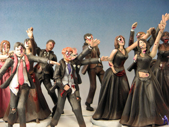 Horde of Cake Topper Zombies