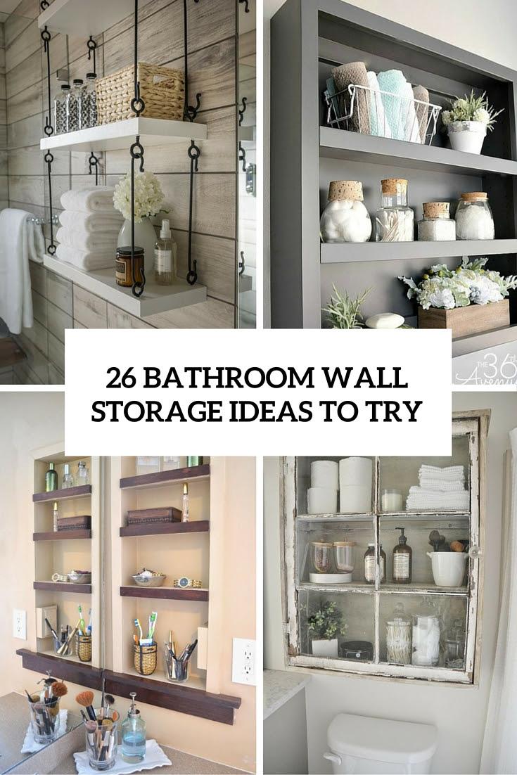 bathroom storage ideas Archives - Shelterness