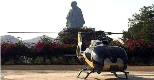 Now Visitors Can Get a Chopper Ride At Statue of Unity For A Panoramic View