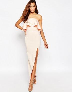Asos long sleeve evening dress