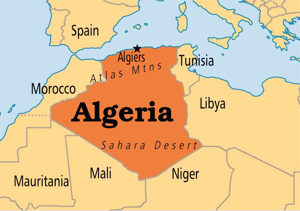 Risultati immagini per algeria confini