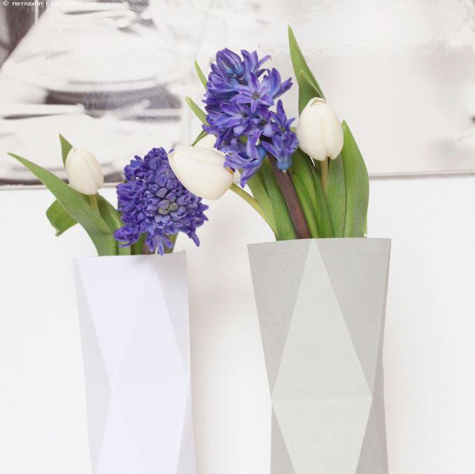 Papiervasen, Faltvase, DIY, Blumen