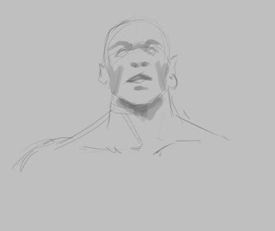 concept, drawing, sketch, how to, tutorial, face, warrior, man, head, fantasy, comics, manga