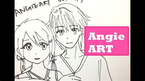anime couple  hug  town