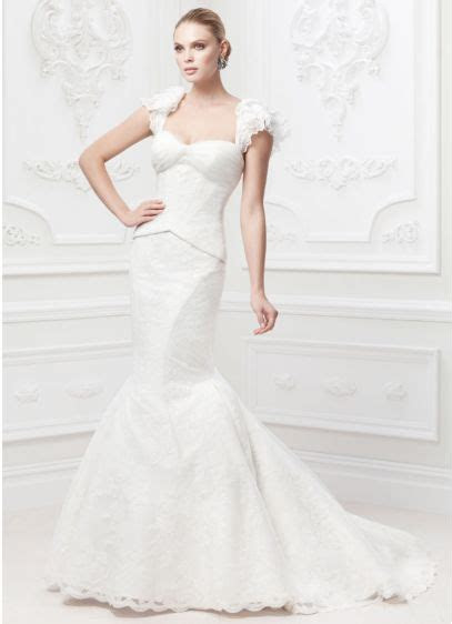 Truly Zac Posen Flutter Sleeve Wedding Dress   David's Bridal