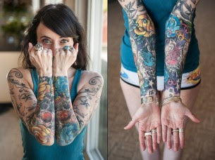 Both Hands Yellow And Blue Roses Tattoo Sleeves Best Tattoo Ideas