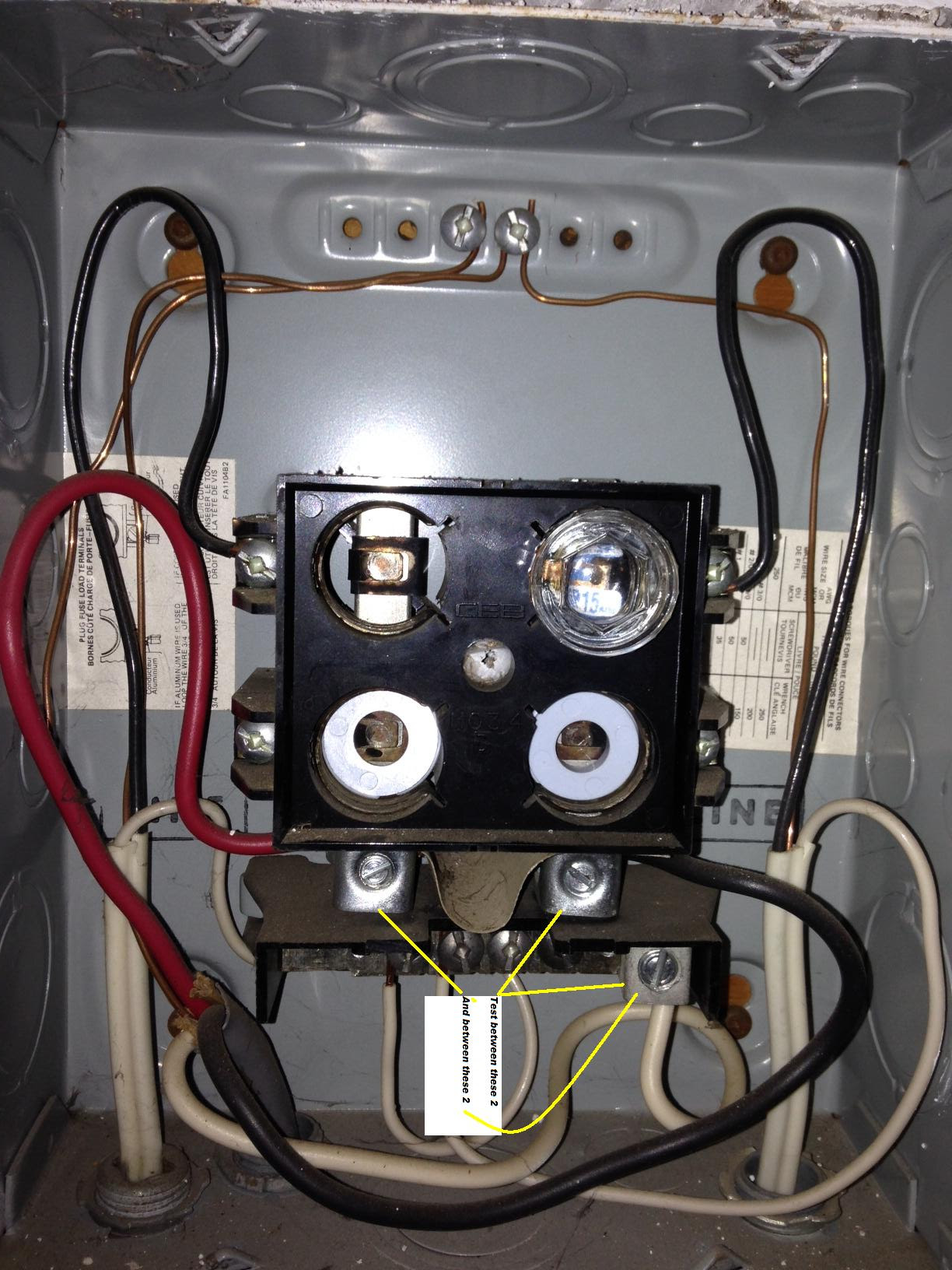 Old House Rejection Base Fuse Box