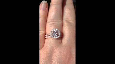 Morganite Rose Gold Milgrain Bezel Diamond Halo Engagement