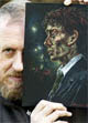 Peter Howson with Gary's Portrait