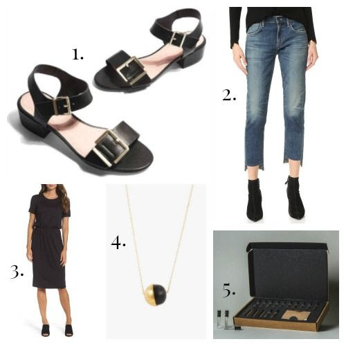 Topshop Sandals - Citizens of Humanity Jeans - Charles Henry Dress - Soko Necklace - Le Labo Fragrance