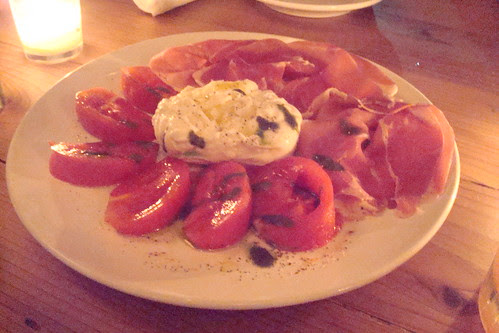 Tomato Burrata and Prosciutto Plate