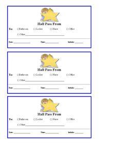 Homework Pass Template } Editable   School ideas   Pinterest ...