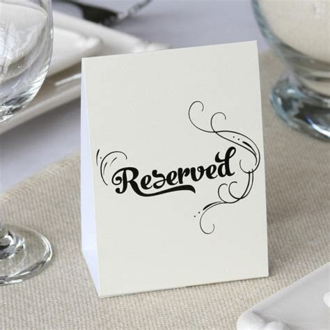 Reserved Table Tents (Set of 10)   Wedding Favors Unlimited