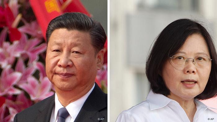 Kombobild Chinese President Xi Jinping +Tsai Ing-wen