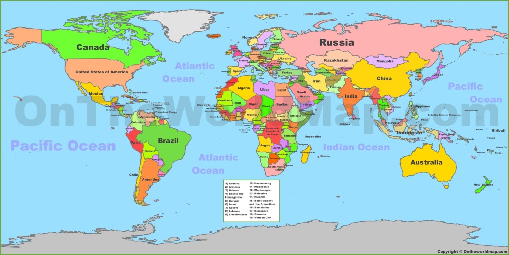 Map Of All Countries All World Map | World Map Gray