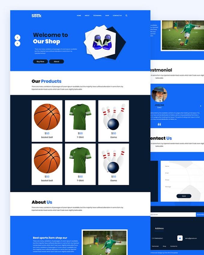 Sock – Sports Shop Html Template