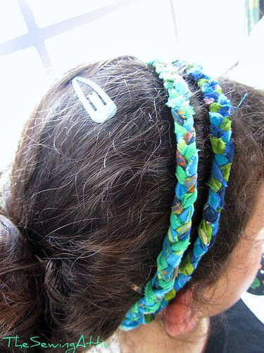 Plaited fabric headband