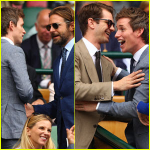 Eddie Redmayne Meets Up With Bradley Cooper & Andrew Garfield at Wimbledon 2017!