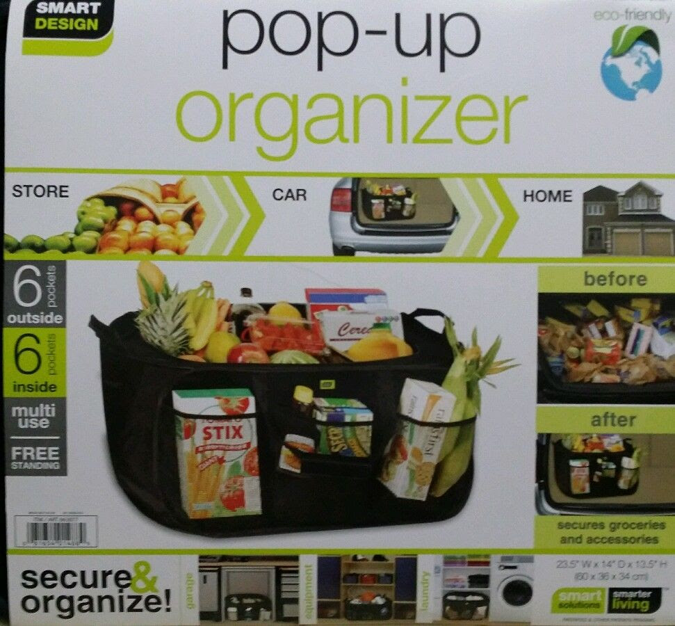 Pop Up Organizer By Smart Design Car Storage Laundry Home Beach