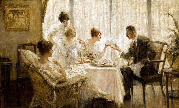 Edmund Franklin Ward (1892 – 1990) Afternoon Tea With The Gentleman