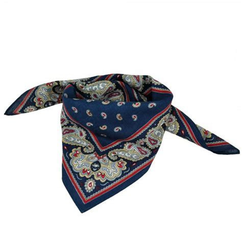 Navy Blue Paisley Bandana Neckerchief from Ties Planet UK