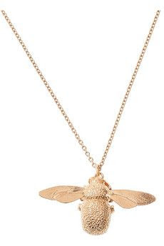 Alex Monroe Rose Gold Bumblebee Necklace