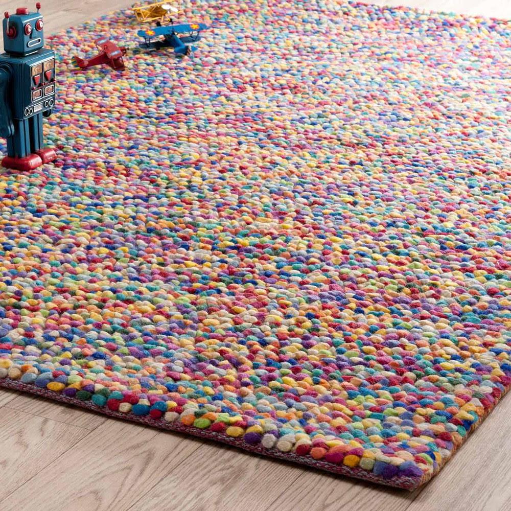 Alfombra de lana de colores 140 x 200 cm RAINBOW   Maisons ...