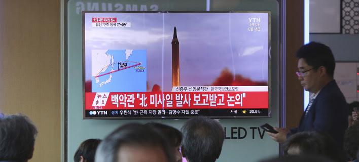 Νέα δοκιμή πυραύλου φέρεται να ετοιμάζει η Β. Κορέα (Φωτογραφία: AP/ Ahn Young-joon)