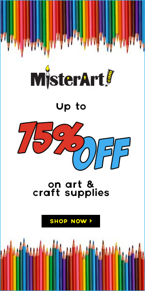 Up to 75% off of Art & Craft supllies