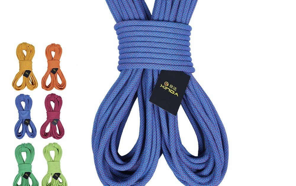 10m Dynamic Climbing Rope for Fire Rescue Mountaineering High Strength Cord