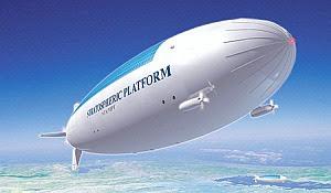 Un diseño de dirigible actualmente en estudio en Japón