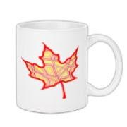 fire leaf mug