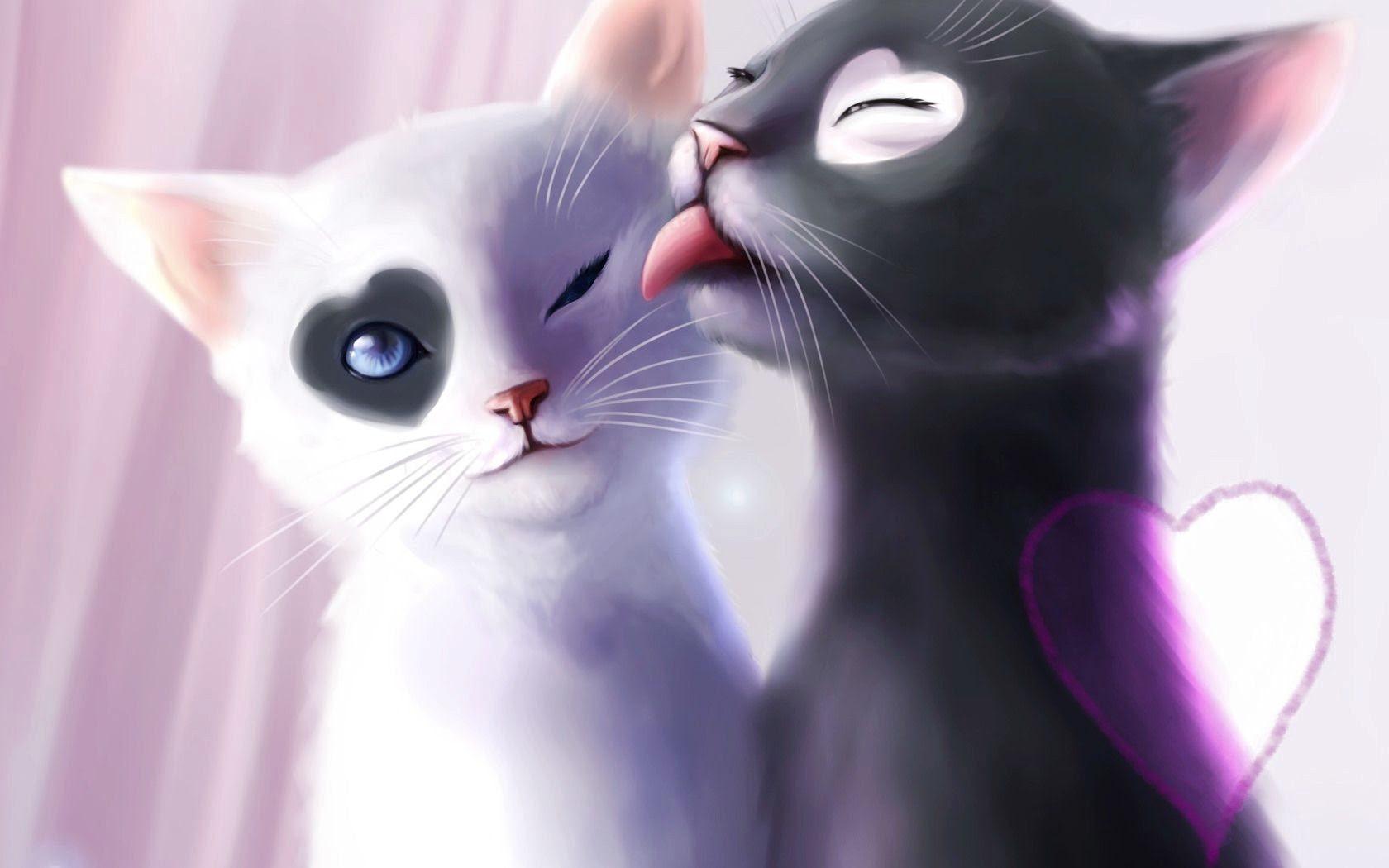 Anime Kitten HD Wallpaper 18636 - Baltana
