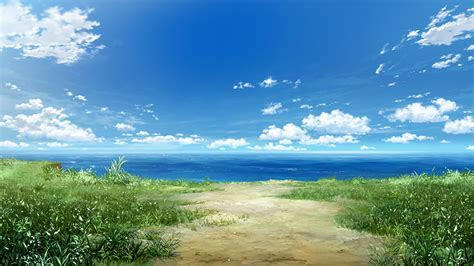 Still sea in the anime in shades of gray wallpapers and