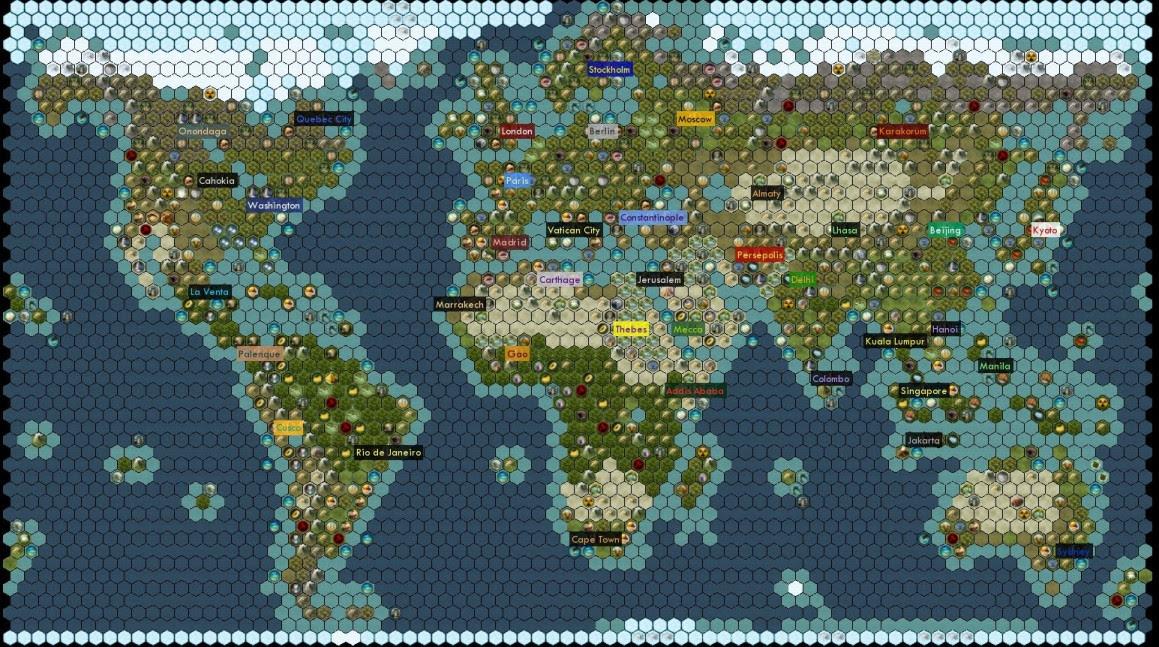 earth map civ 6