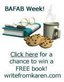 Win a FREE book at writefromkaren.com